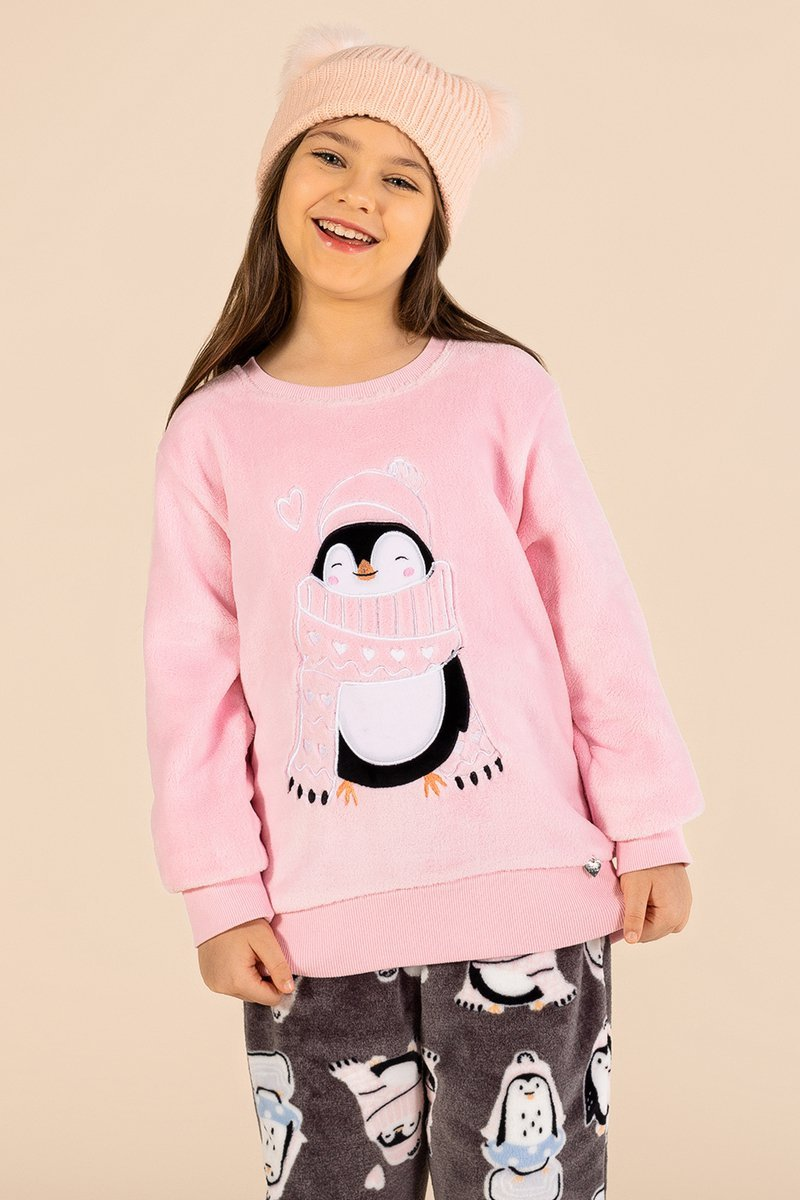 LANÇAMENTO Pijama Infantil Soft Fofura A Princesa Moderna Inverno 21 MDS