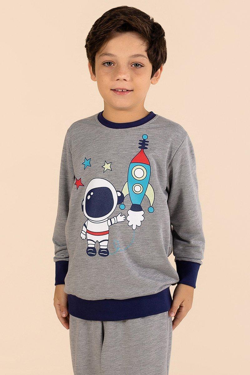 LANÇAMENTO Pijama Infantil Moletinho Sem Felpa Galáxia A Princesa Moderna Inverno 21 MDS