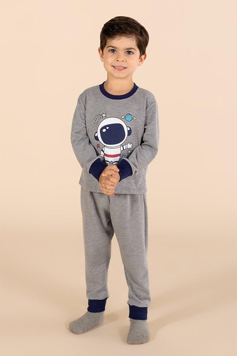 PROMO Pijama Infantil Moletinho Sem Felpa Galáxia A Princesa Moderna Inverno MDS