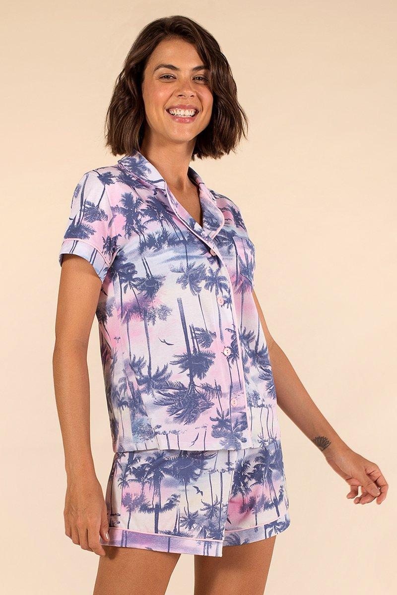 LANÇAMENTO Pijama 1/2 Malha Diverty Tropical A Princesa Moderna Inverno 21 MDS