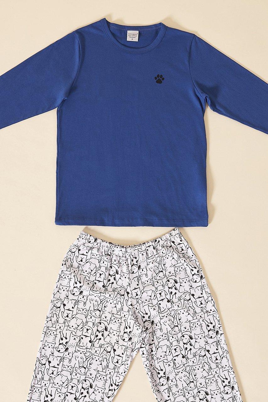 PROMO INVERNO OUTLET Pijama Infantil 1/2 Malha Rock