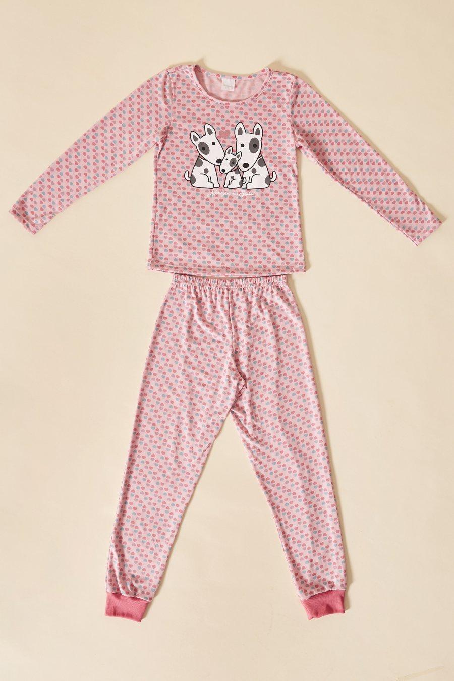 LANÇAMENTO Pijama Infantil 1/2 Malha Duo Love Mensageira da Paz Inverno 21
