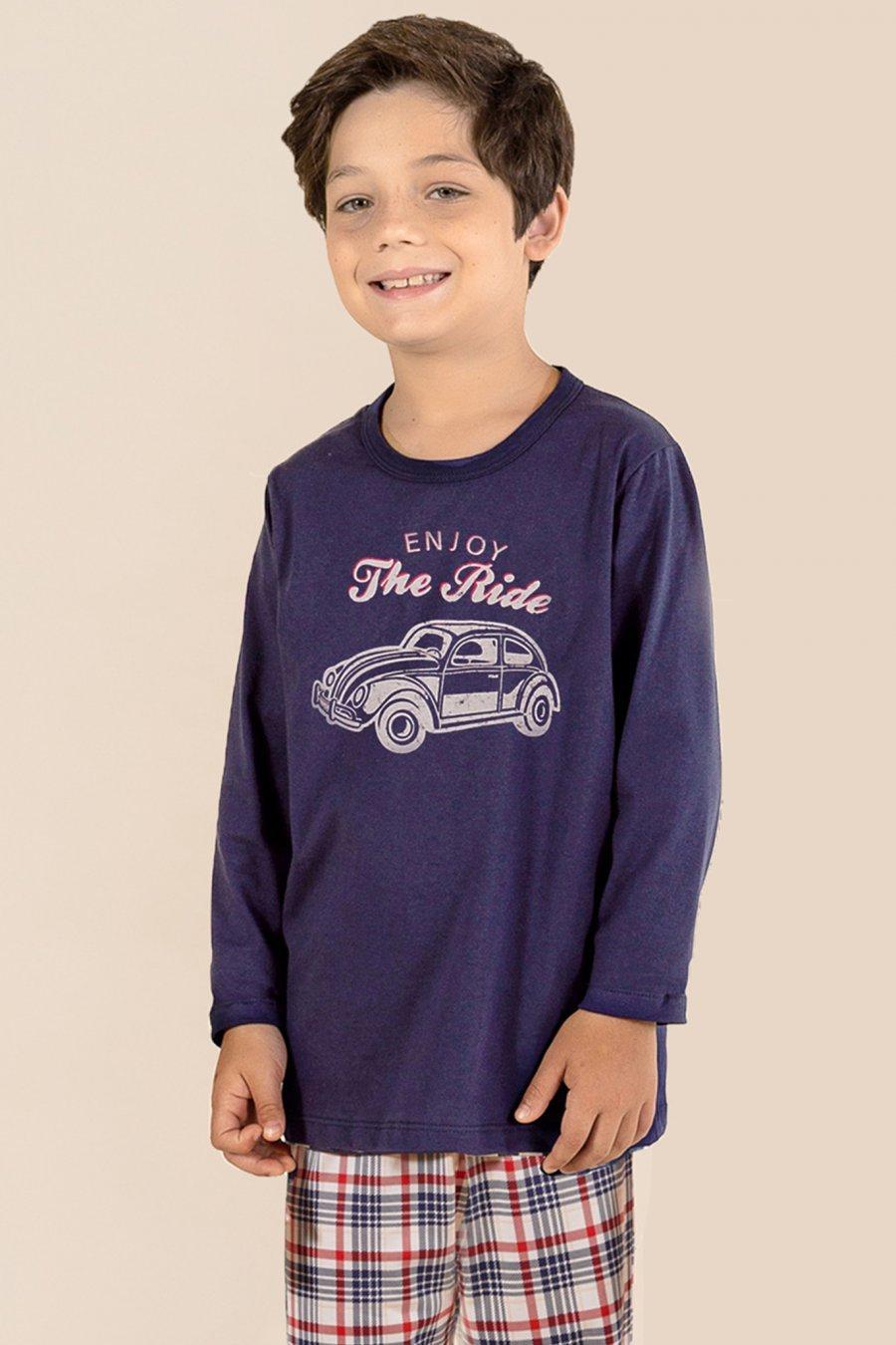 PROMO Pijama Infantil 1/2 Malha Fusca Mensageira da Paz Inverno