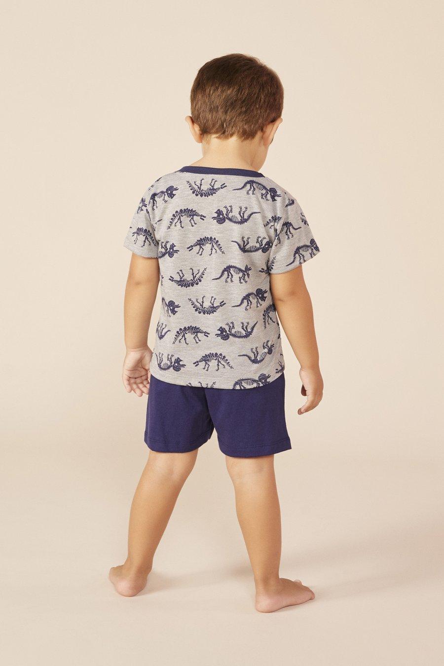 LANÇAMENTO Pijama Baby 1/2 Malha Dinossauro Mundo dos Sonhos Primavera Verão 22 MDS