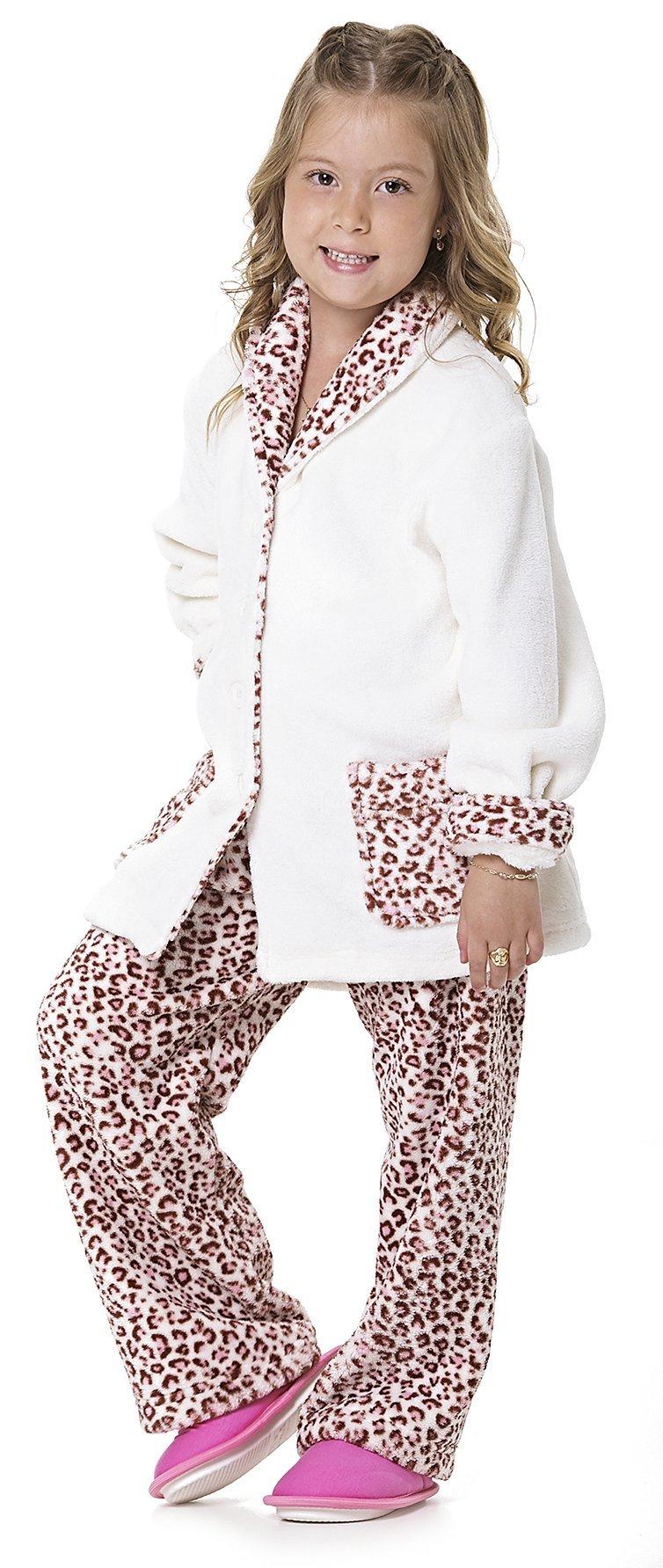 Pijama Soft Infantil Onça Promoção