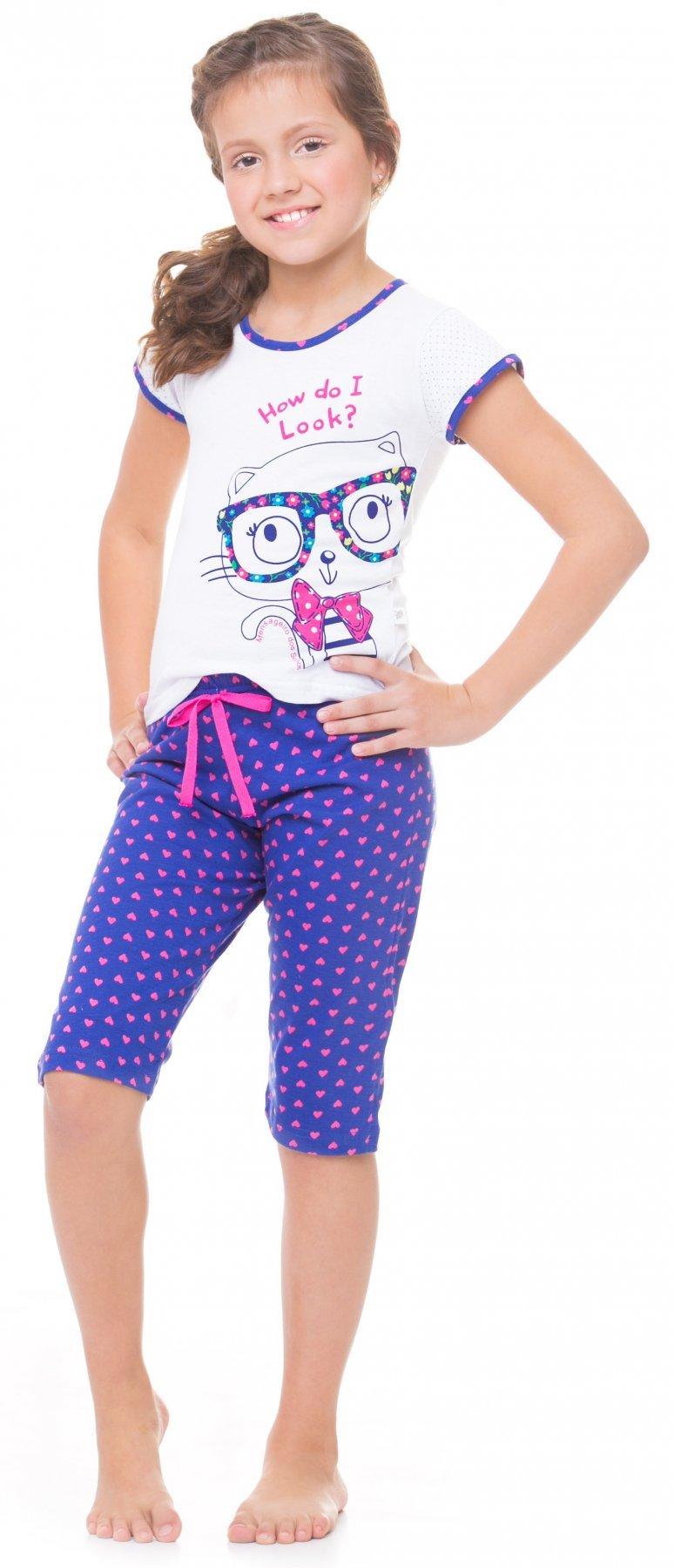Pijama Infantil Pescador Gato Tropical