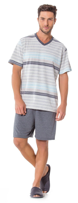 Pijama Curto Masculino Adulto Clássico