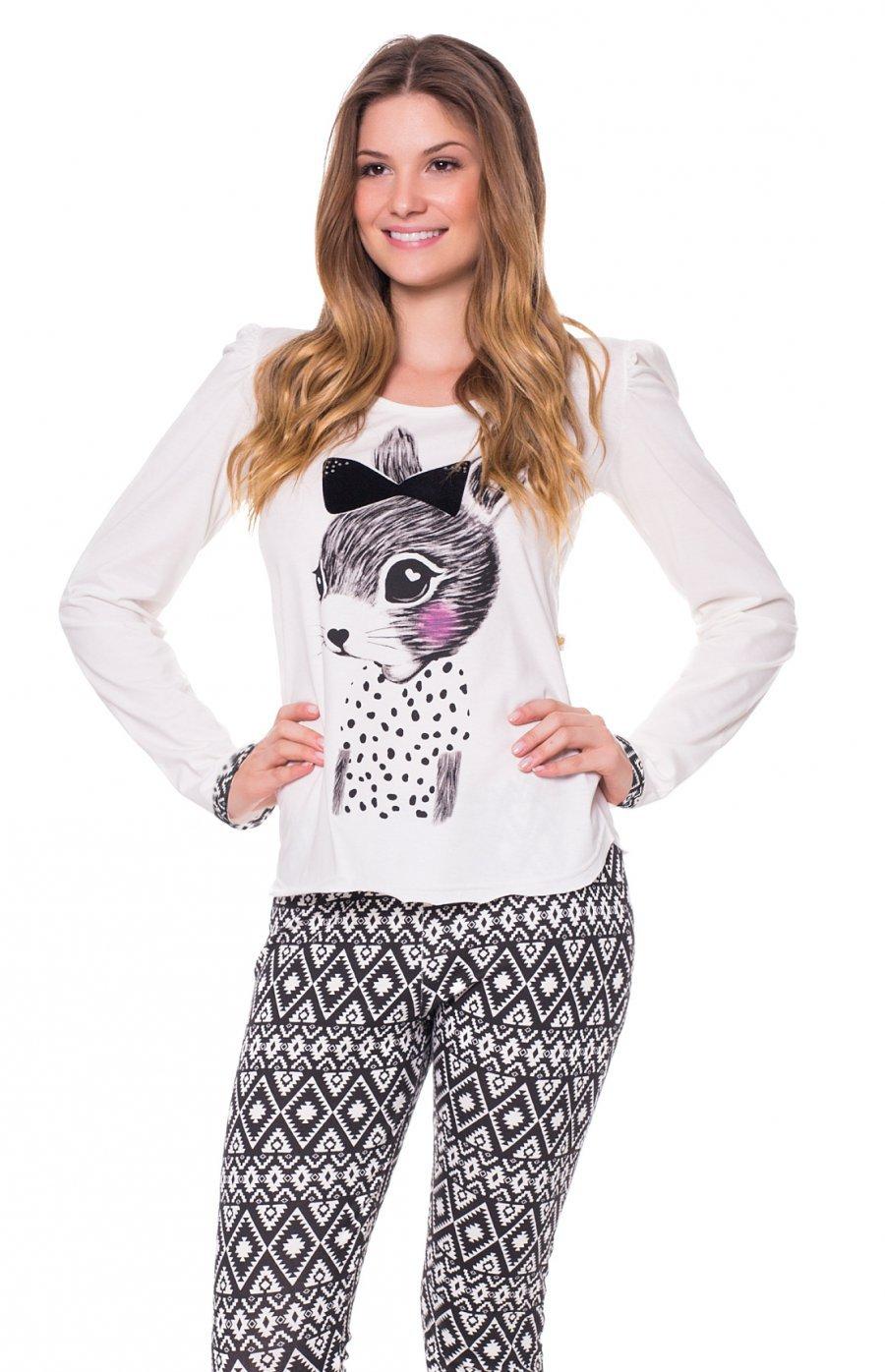 Pijama com Calça Legging Adorável