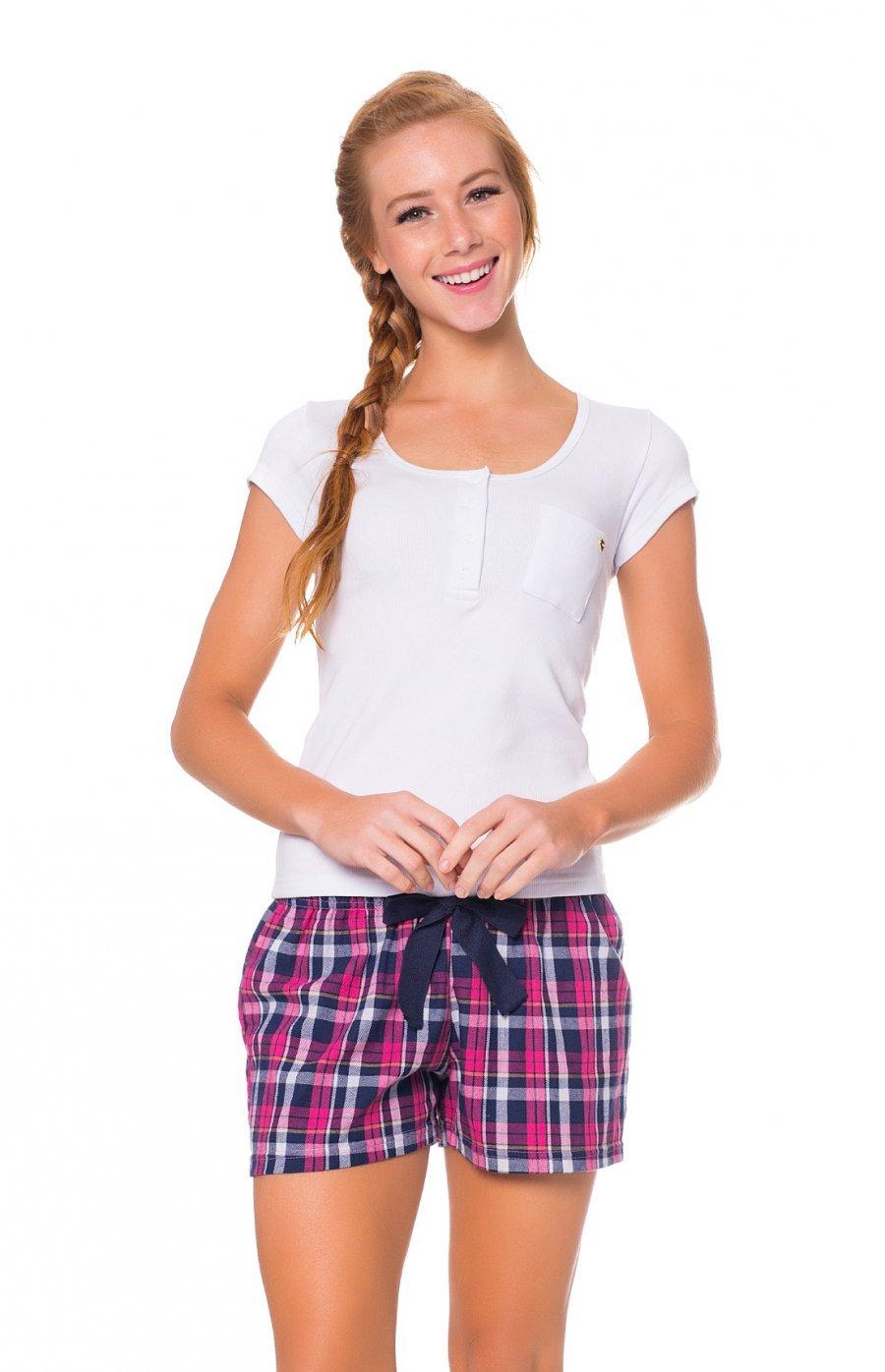 Short Doll Feminino Adulto Blusa Ribana Shorts Flanela Casual