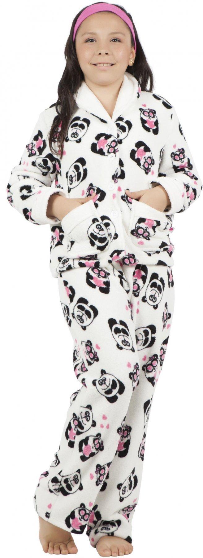Pijama Soft Infantil Panda Promoção