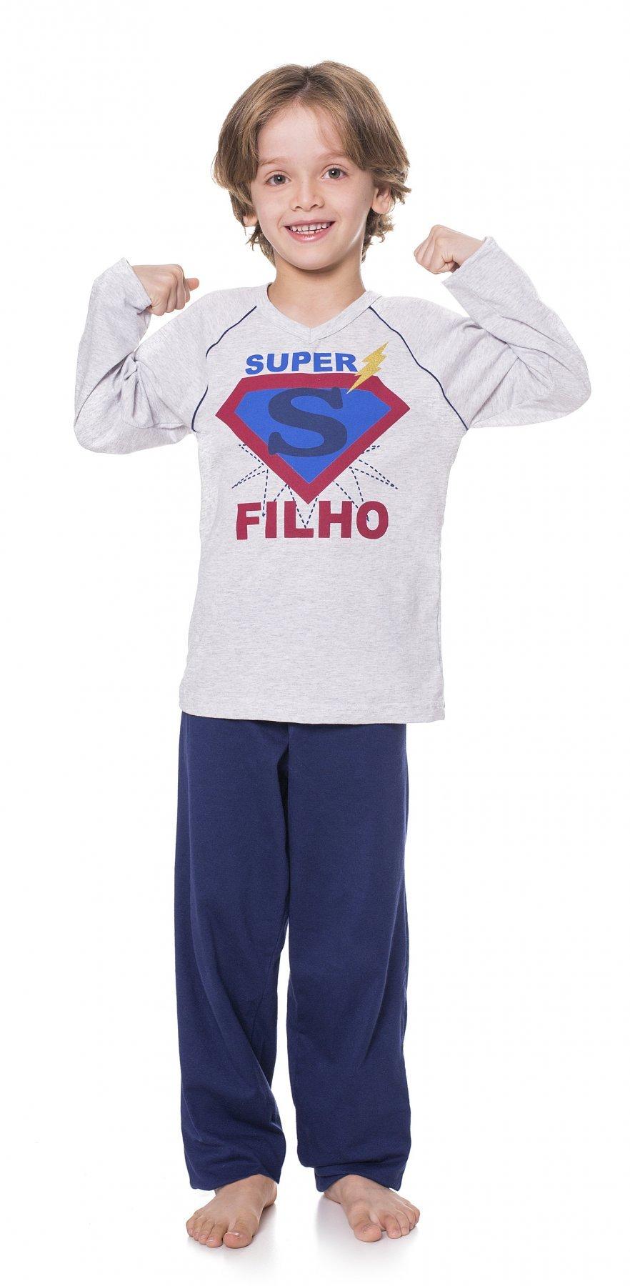 Pijama Infantil Meia Malha Super Família