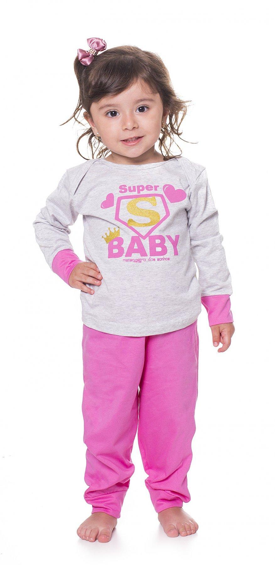 Pijama Baby Meia Malha Super Família