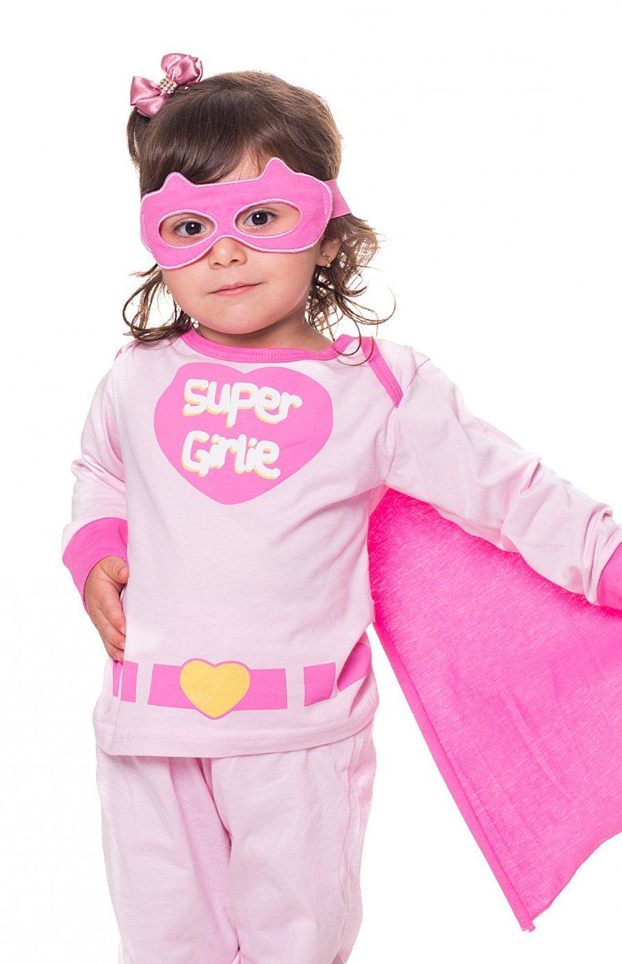 Pijama Baby 100% Algodão com Máscara Herói