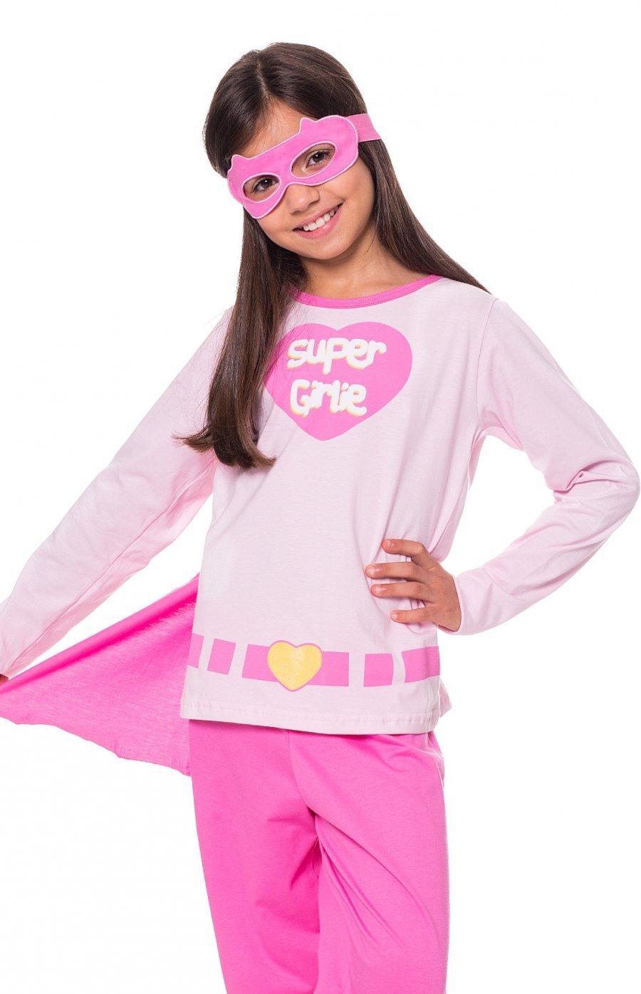 Pijama Infantil 100% Algodão com Máscara Herói