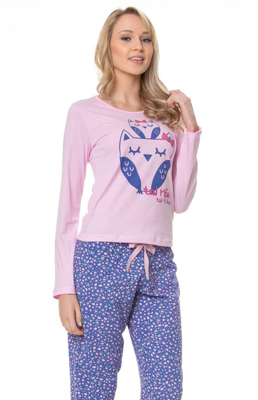 Pijama Longo 100% Algodão Tal Mãe Tal Filha