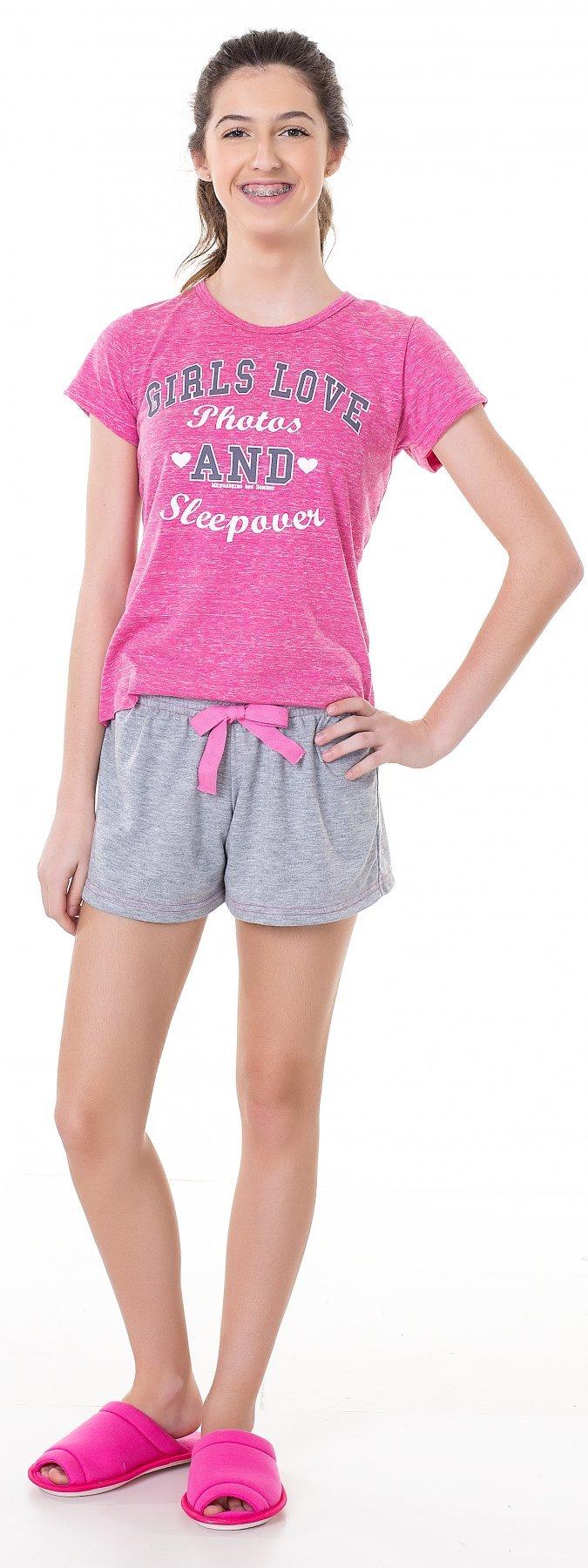 Pijama Juvenil College Girl Verão 2017