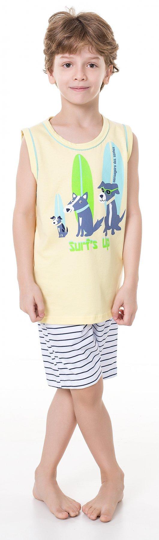 Pijama Infantil Dog Surfista Verão 2017 (com Estampa que Brilha no Escuro)