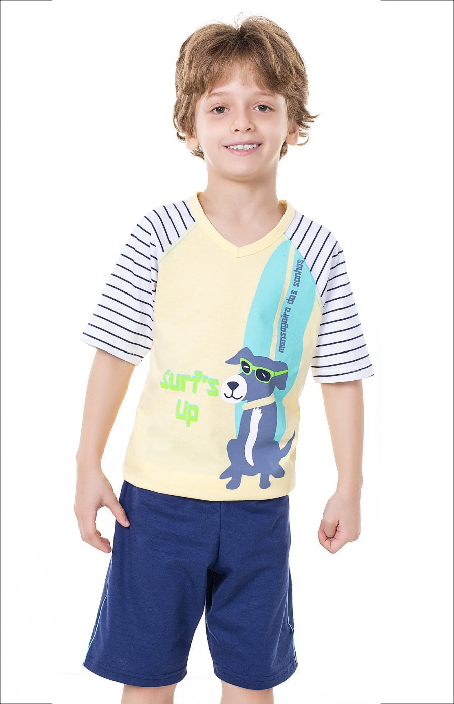 Pijama Infantil Dog Surfista (com Estampa que Brilha no Escuro)
