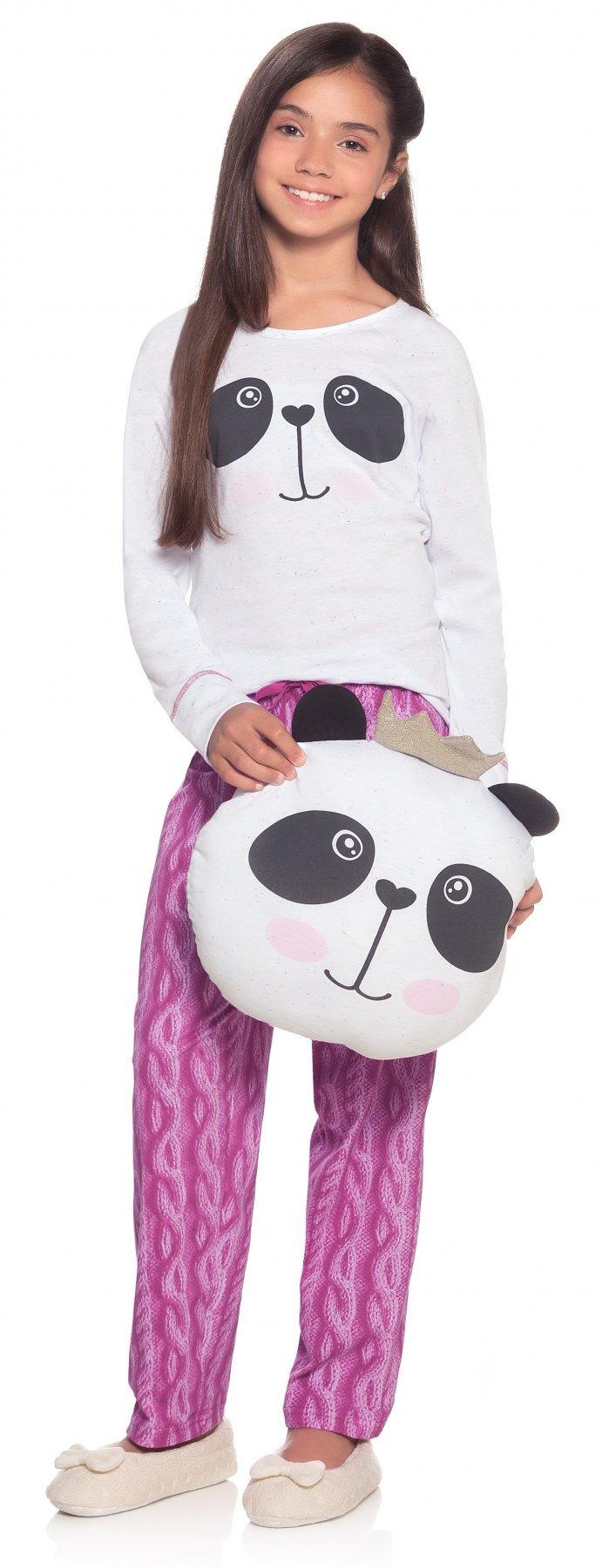 Pijama Juvenil Panda Princess Inverno 2017