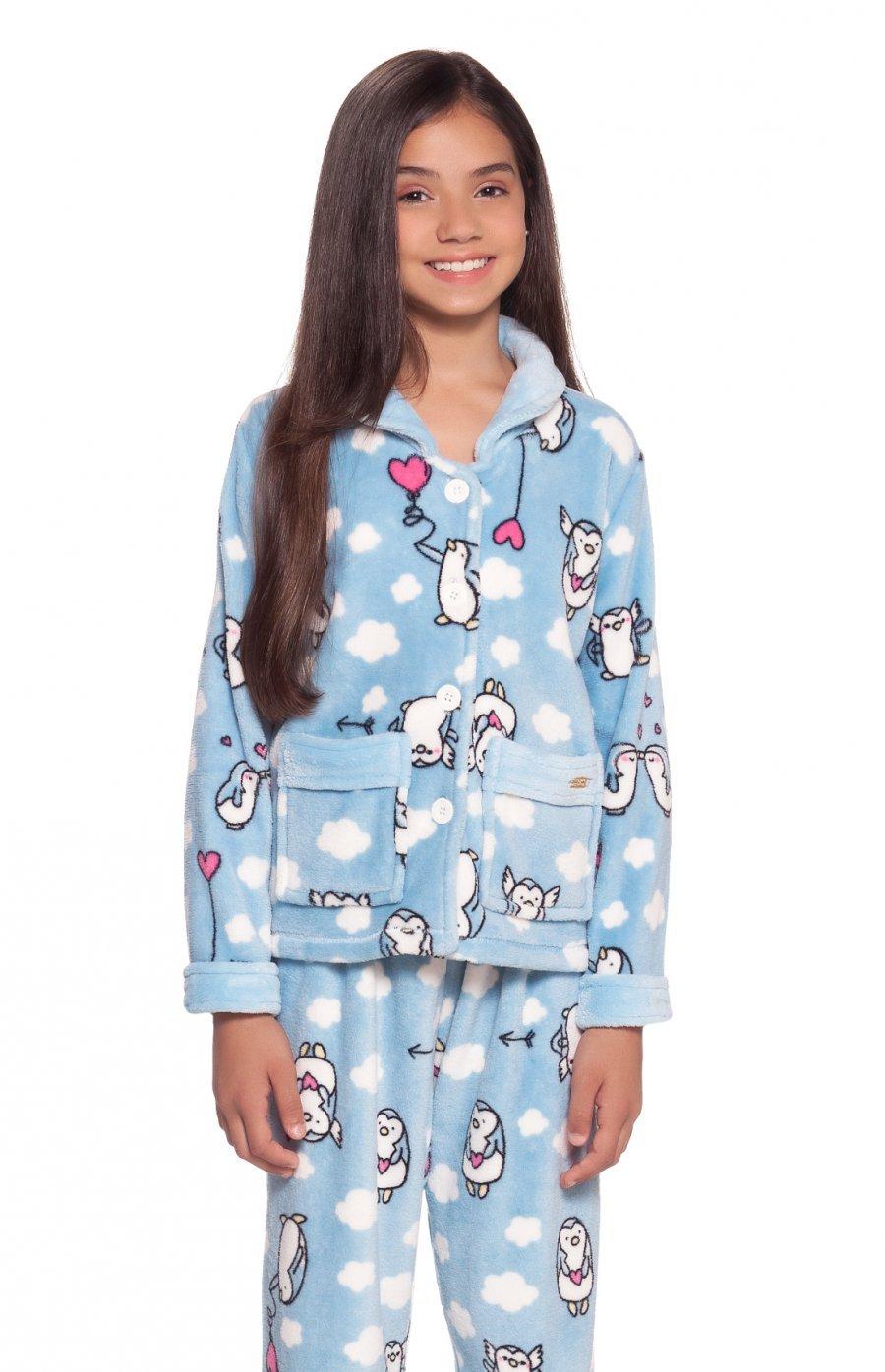 Pijama Soft Infantil Pingu Inverno PROMO