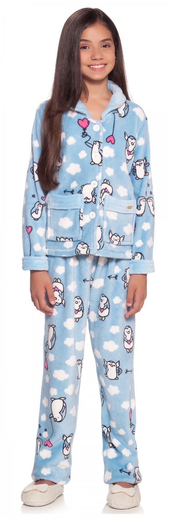 Pijama Soft Infantil Pingu Inverno 2017