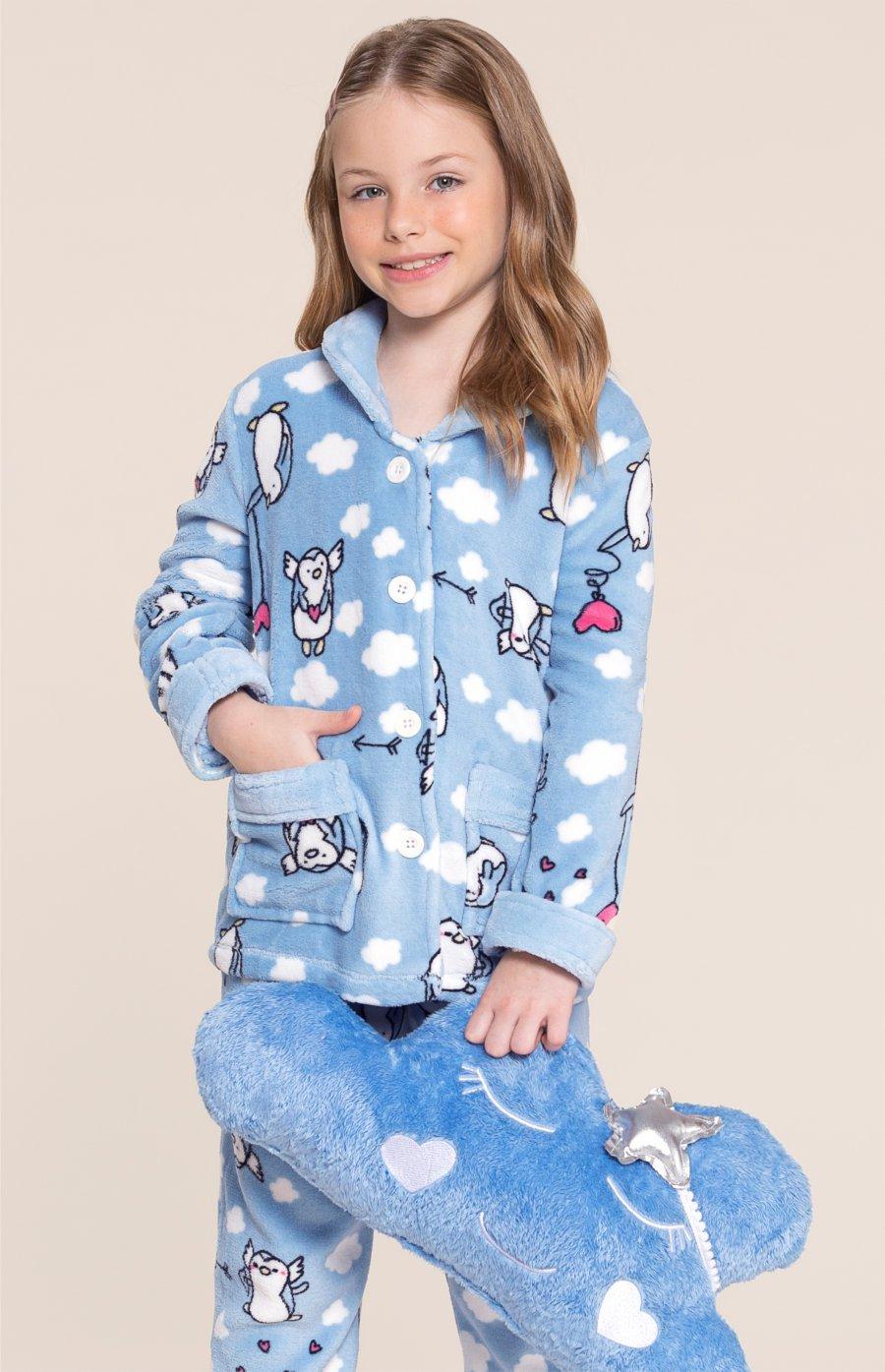 LIQUIDA Pijama Soft Infantil Pingu Inverno