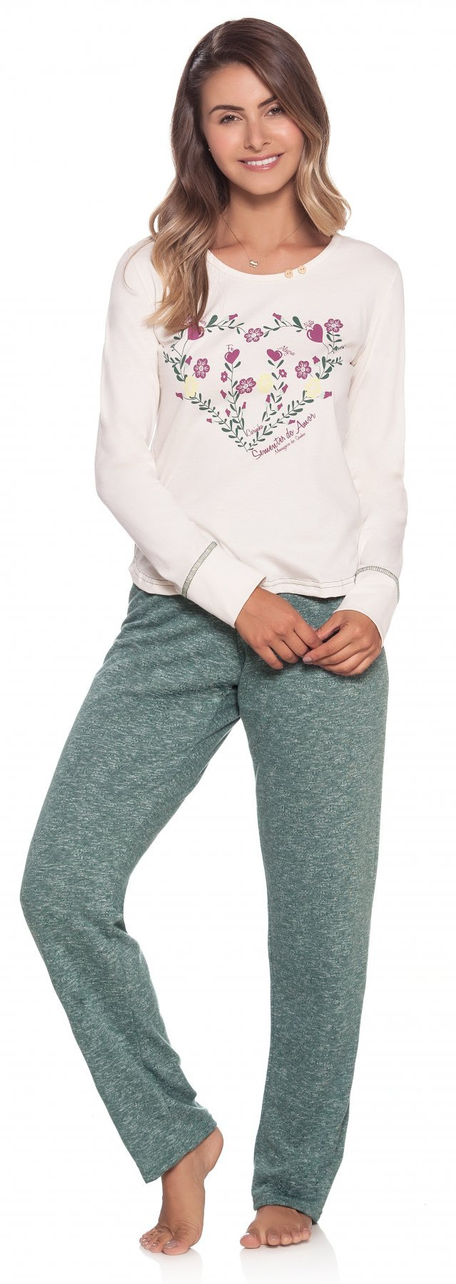 Pijama Longo Natureza Sementes do Amor Inverno