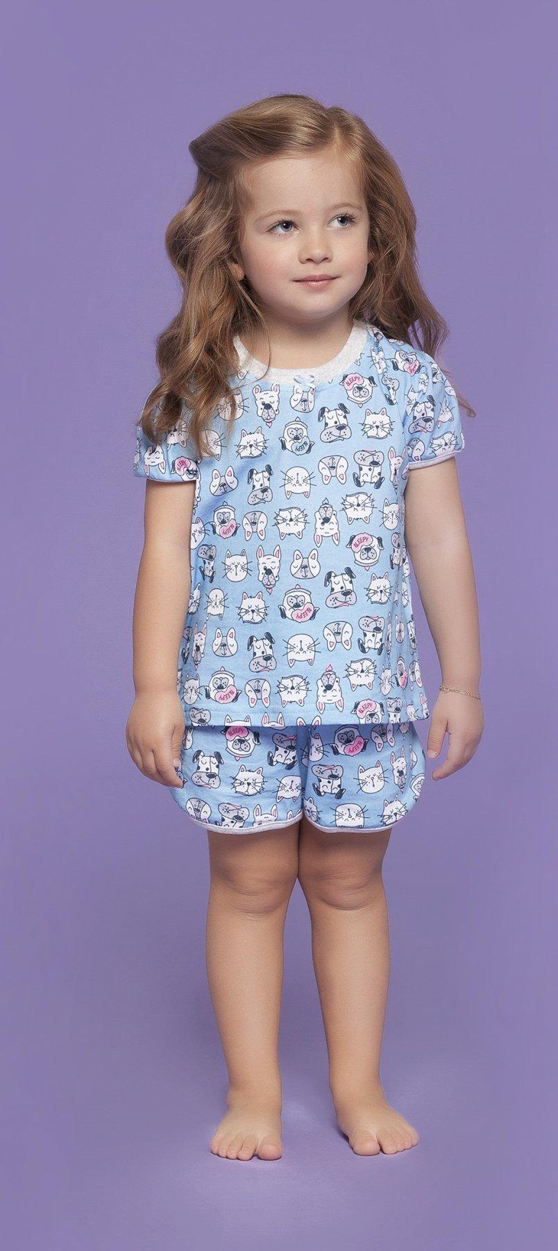 Pijama Baby 100% Algodão Mascotes Verão 2018