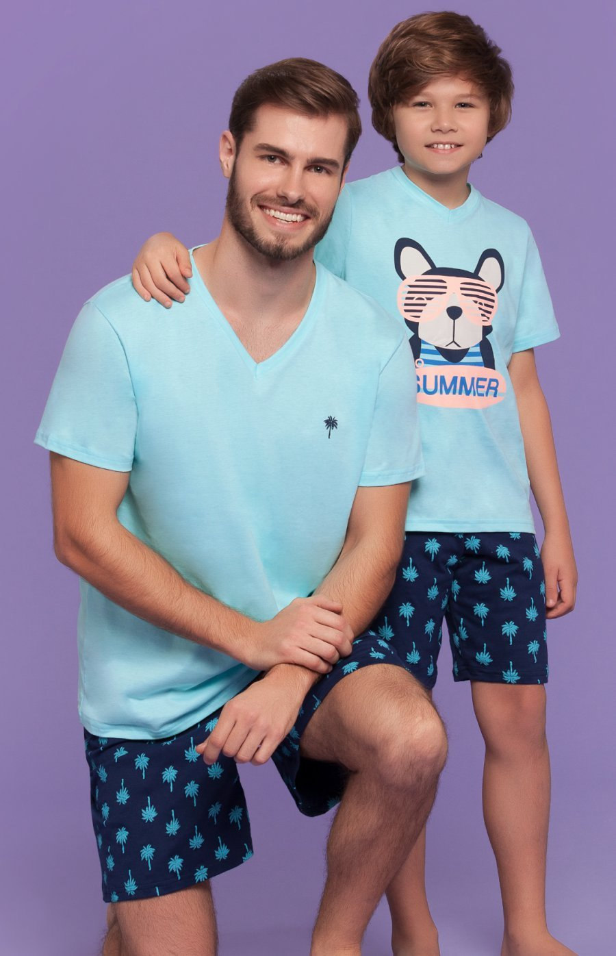 Pijama Juvenil 100% Algodão Paradise Verão 2018