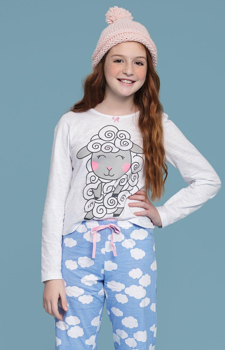 Pijama Juvenil Longo Sonhar PROMO Inverno 2018