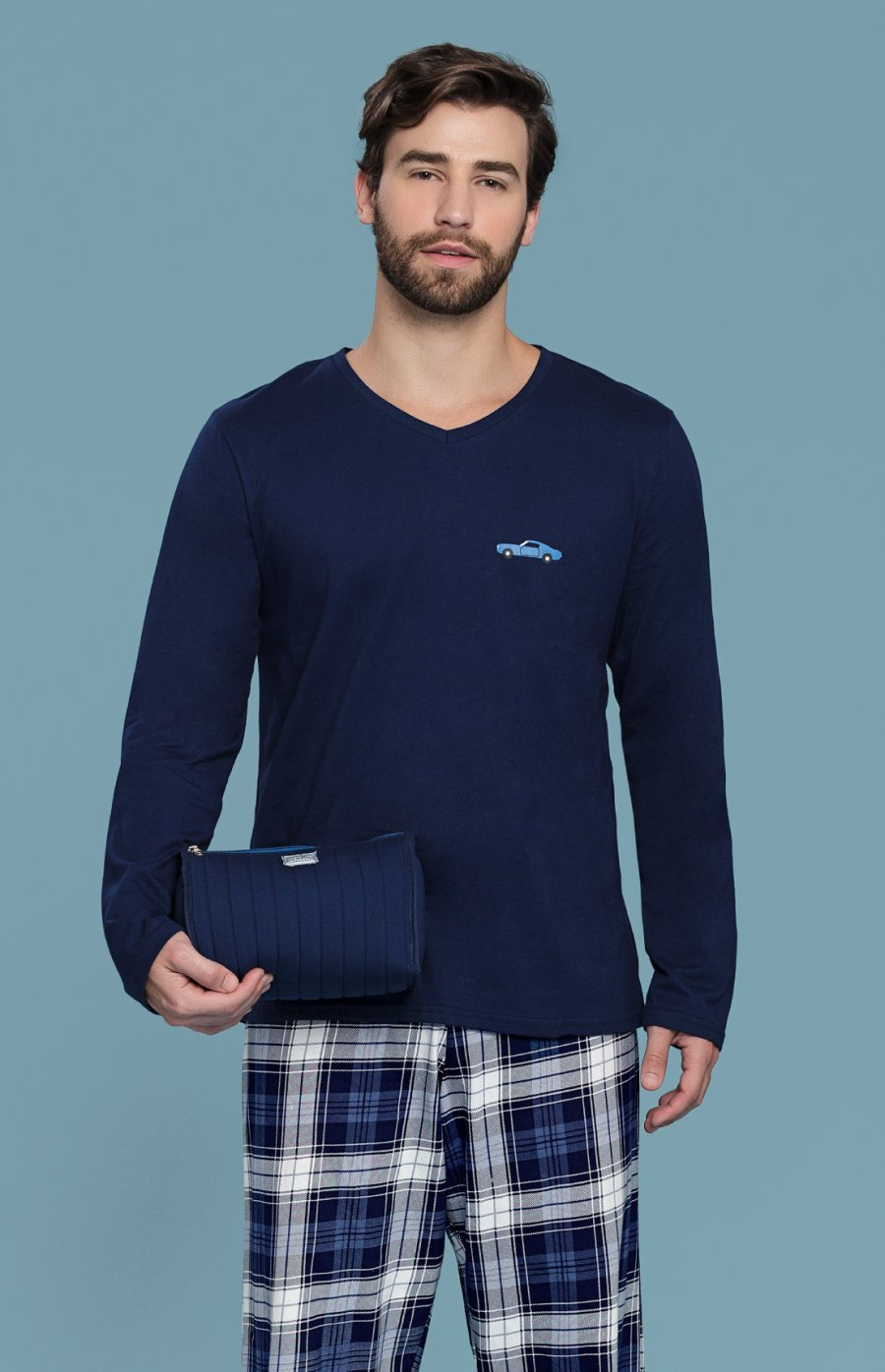 Pijama 100% Algodão Sky PROMO Inverno