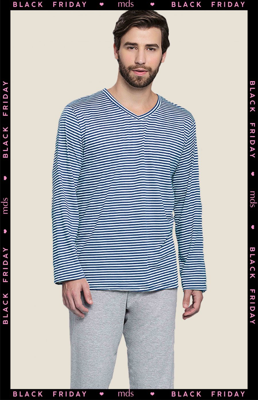 BLACK FRIDAY Pijama Plus Size Holiday Inverno MDS