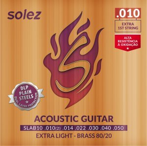 ENCORD. SOLEZ SLANPB10 VIOLAO NICKEL PLATED 0.010