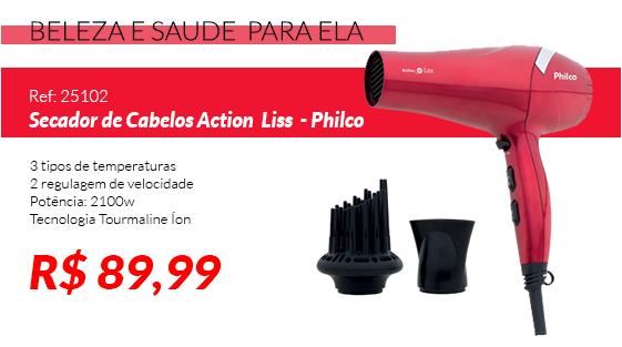 Secador de Cabelos Action Íon Liss 2100W - Philco