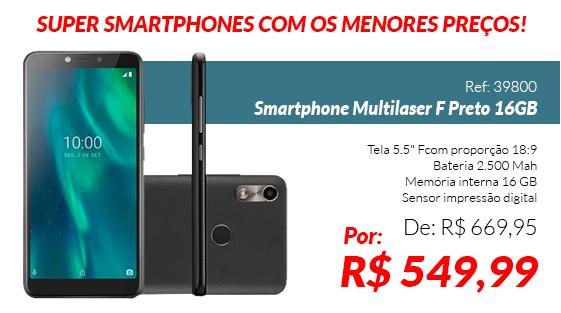 Smartphone Multilaser F Preto 16G