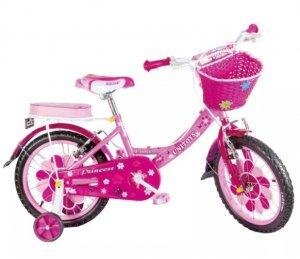 Bicicleta Infantil Aro 16 Princess Rosa 1048 - Unitoys