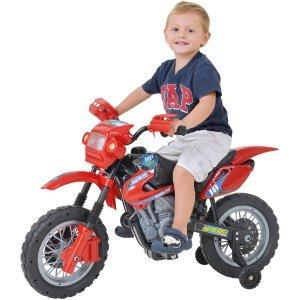 Moto Elétrica Infantil Cross Vermelha 244 - Home Play