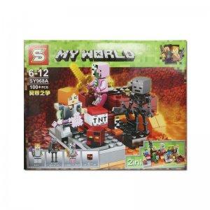 Blocos de Montar My World Minecraft 123 peças - SY968
