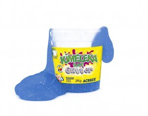 Slime Kimeleka Glitter Azul 2,5 Kg - Acrilex