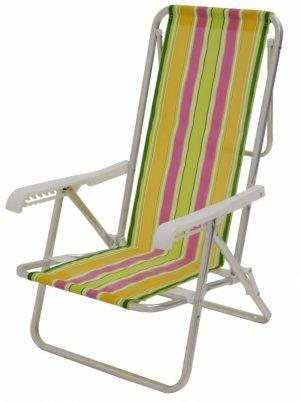 Cadeira de Praia 8 posições Alumínio Reclinável - Mor