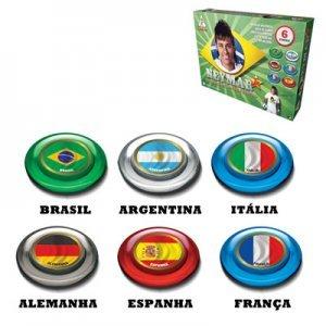 Futebol de Botão Neymar 6 Seleções 0396 - Gulliver