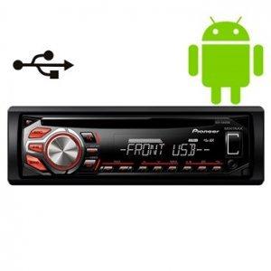 Rádio Toca CD Player Pioneer DEH1650UB Automot. USB MP3 AUX