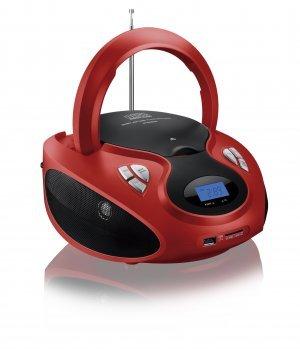 Caixa De Som Sp180 Boombox 20w Rms Vermelha E Preta Multilaser