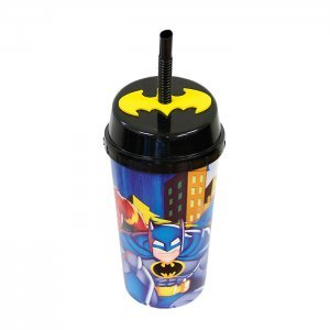 Copo c/ Canudo 600ml Batman 503097 - Zein
