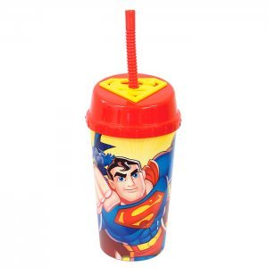 Copo c/ Canudo 600ml Superman 503098 - Zein