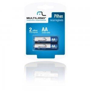 Conjunto Pilhas Recarregáveis AA c/ 2 CB053 - Multilaser