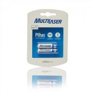 Pilhas Recarregáveis AAA c/ 2 1000Mah CB051 - Multilaser