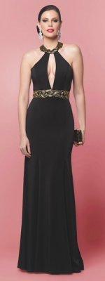 51a1635a9 Vestido longo sereia c/ detalhe bordado