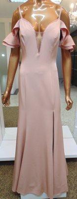 60c1a078d Vestido longo rosê c/ detalhe bordado