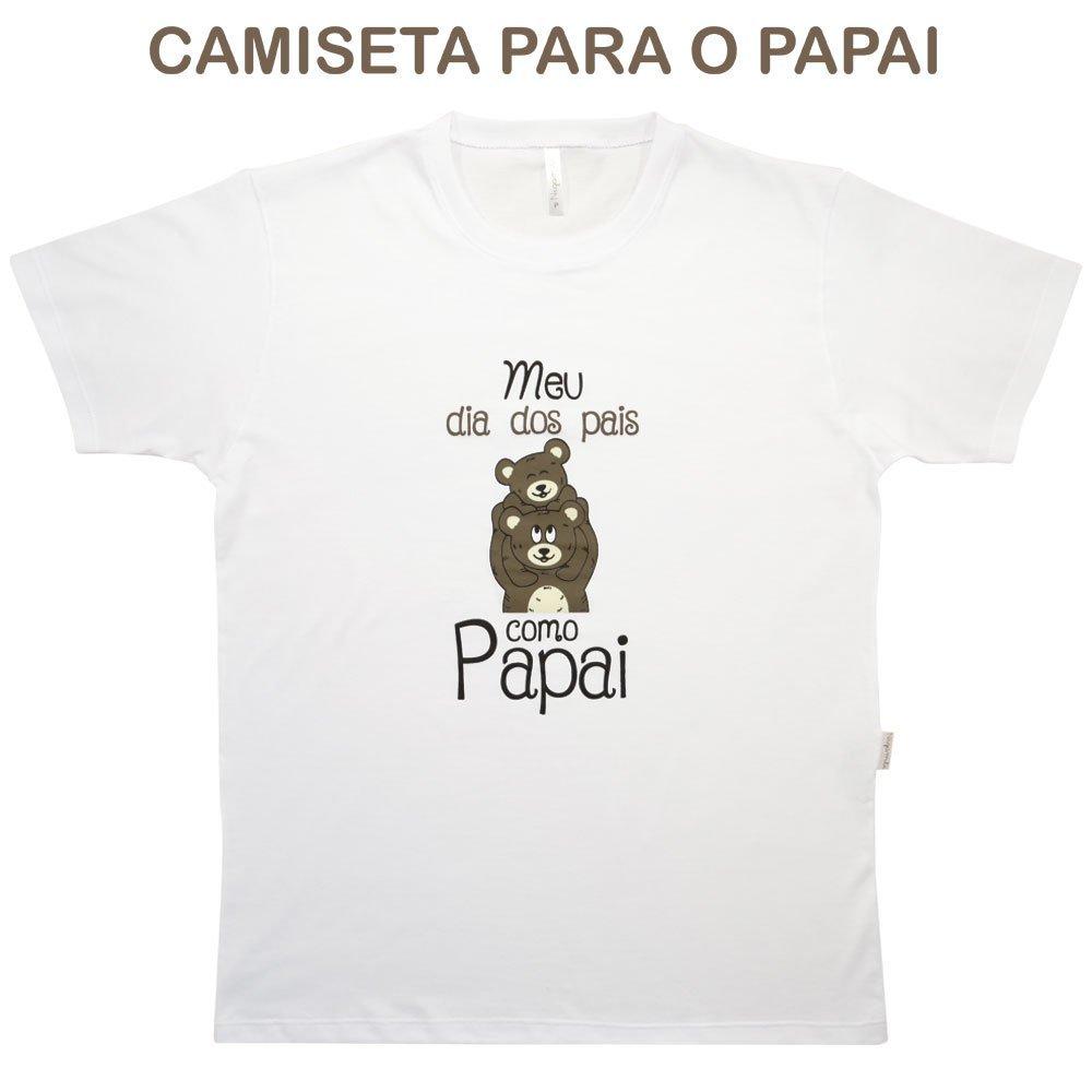 Camiseta Adulto Manga Curta Dia dos Pais Nigambi Branco